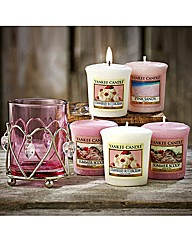 Heart Votive Holder & Five Votives