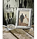 Personalised Wedding Frame & Flutes