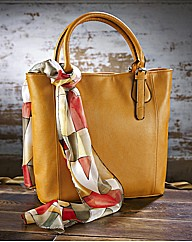 Mustard Bag and Scarf Set