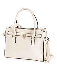 Cream Padlock Shoulder Bag