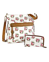 Floral Shopper and Purse Set