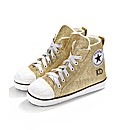 Personalised Ladies Gold Glitter Slipper
