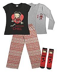 Personalised Betty Boop Pyjama Set