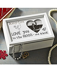 Personalised Love You To The Moon Box