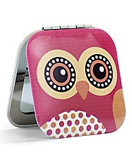 Dotty Owl Compact Mirror
