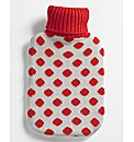 Red Spot Hot Water Bottle & Cover