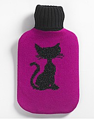 Black Cat Hot Water Bottle & Cover