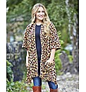 Animal Print Fleece Wrap