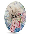 Fairy & Unicorn Glass Clock