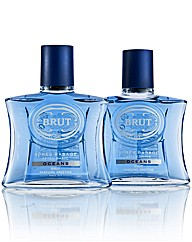 Brut Ocean 100ml Aftershave Splash BOGOF