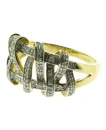 9ct Gold Diamond Knot Design Ring