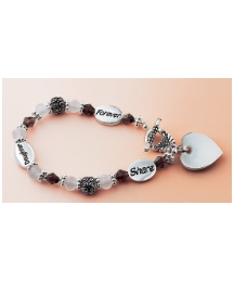 Personalised Antique Look Charm Bracelet