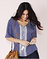 Short Sleeve Folk Blouse £11.00 AT vintagedancer.com
