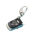 Glitzy Mobile Phone-Shaped Keyring Clock