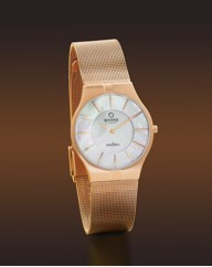 Obaku Gents Rose Gold-Plated Watch