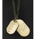 9ct Gold Personalised Dog-Tag Pendant