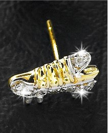 9ct Gold Football Boot Diamond-Set Stud