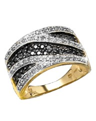 9 Carat Gold 1/2ct Black Diamond Ring