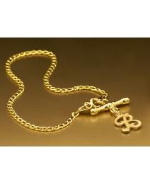 9 Carat Gold Initial T-Bar Bracelet