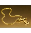 9 Carat Gold Initial T-Bar Bracelet