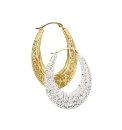 Evoke 9 Carat Gold Large Creole Earrings