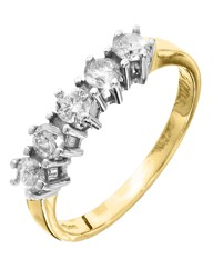 9 Carat Gold 1/4ct Diamond Ring