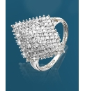 9ct White Gold 1/2ct Diamond Ring