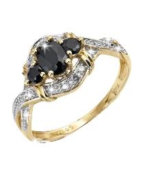 9 Carat Gold Sapphire & Diamond Ring