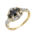 9 Carat Gold Sapphire & Diamond Ring