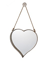 Vintage Heart Hanging Mirror