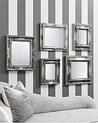 Pemberly Set of 5 Scatter Mirrors
