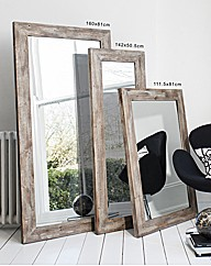 Standen Rustic Timber Leaner Mirror