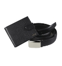 Personalised Leather Wallet With Belt