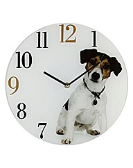 Pampered Pet Glass Wall Clock