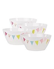 Summer Fete 4 Plastic Picnic Bowls