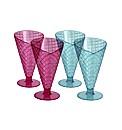 Set of 4 Plastic Picnic Sundae Cones