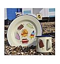 Walls Retro Enamel Plate and Mug Set