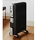 Warmlite Black 2000w Tall Oil Radiator