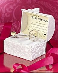 21st Glass Key And Musical Box