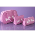 Pink Terriers Cosmetic Bags Set