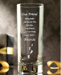 Personalised Footprints Glass