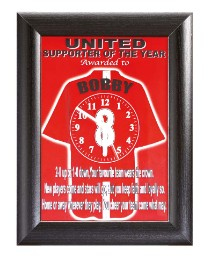 Personalised Football Supporter Clock
