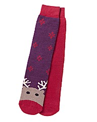 Totes Pack of 2 Pairs Slipper Socks