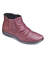 Cushion-walk Ruched Ankle Boots E Fit