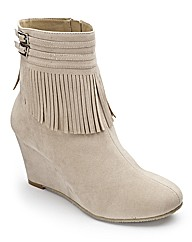 Footflex by Lotus Wedge Boots E Fit