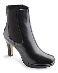 Clarks Black Leather Ankle Boot E Fit