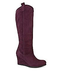 Top to Toe Suede High Leg Boot E Fit