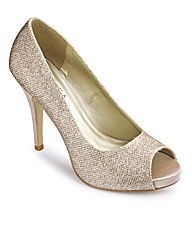 Joanna Hope Glitter Peep Shoes D Fit