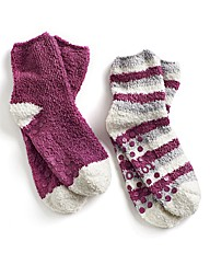 Totes Pack of 2 Pairs Slipper Socks