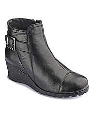 Lotus Wedge Ankle Boots EEE Fit